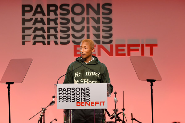 The 71st Annual Parsons Benefit Honoring Pharrell, Everlane, StitchFix & The RealReal [music,event,performance,stage equipment,speech,public speaking,talent show,pharrell williams,annual parsons benefit honoring pharrell,stage,new york city,stitchfix,the realreal,everlane]