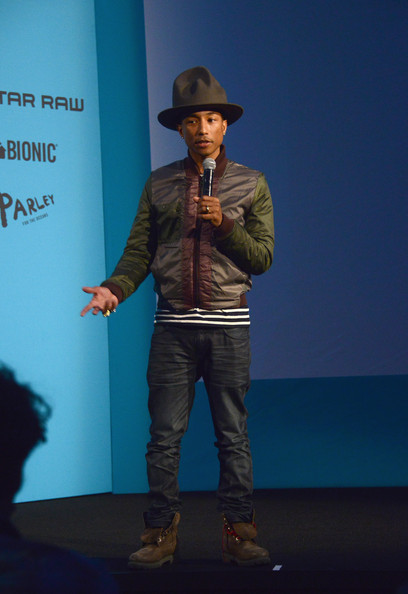 pharrell williams in pharrell williams curates collaboration between bionic yarn and g star. Black Bedroom Furniture Sets. Home Design Ideas