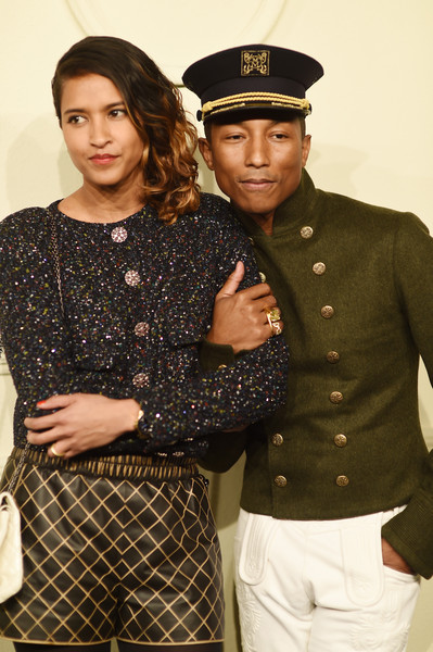 ce39af13d0e Pharrell Williams and Helen Lasichanh Photos Photos - CHANEL Paris ...