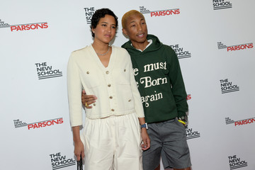 Pharrell Williams Helen Lasichanh The 71st Annual Parsons Benefit Honoring Pharrell, Everlane, StitchFix & The RealReal