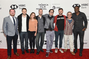 """(L-R) Thomas Verrette, Michael Zimbalist, guest, Jeff Zimbalist, Arbi Pedrossian, Chris Perkel, David Worthen and Mario Melchiot attend the screening of """"Phenoms: Goalkeepers"""" during the 2018 Tribeca Film Festival at SVA Theatre on April 25, 2018 in New York City."""