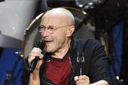 Recording artist Phil Collins performs during a stop of his Not Dead Yet Tour at MGM Grand Garden Arena on October 27, 2018 in Las Vegas, Nevada.