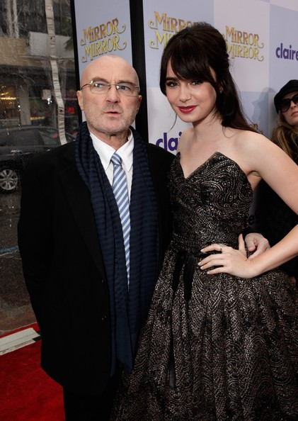 Phil Collins and Lily Collins Photos Photos - Relativity ...