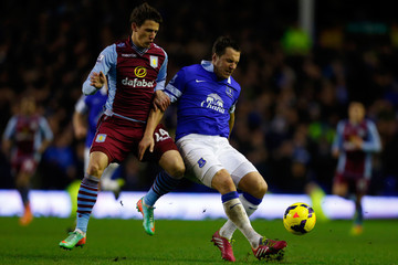 Phil Jagielka Everton v Aston Villa - Premier League