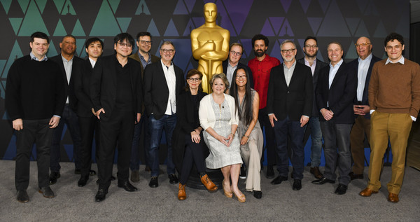 91st Oscars - Oscar Week: Animated Features [social group,team,event,suit,features,l-r,oscars - oscar week,mamoru hosoda,christopher miller,peter ramsey,yuichiro saito,phil johnston,brad bird,rich moore]