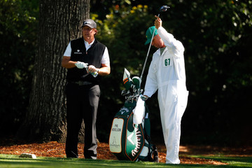Phil Mickelson Jim MacKay The Masters - Round One
