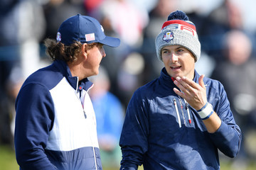 Phil Mickelson Jordan Spieth 2018 Ryder Cup - Morning Fourball Matches