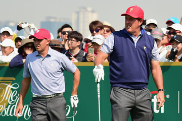 Phil Mickelson Rickie Fowler The Presidents Cup - Preview Day 2