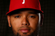 Andres Blanco #4 of the Philadelphia Phillies poses for a portrait on February 26, 2016 at Bright House Field in Clearwater, Florida.