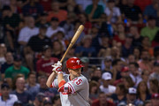 Daniel Nava #25 of the Philadelphia Phillies bats during the seventh inning of a game against the Boston Red Sox at Fenway Park on June 13, 2017 in Boston, Massachusetts. The Red Sox won 4-3 in twelve innings.