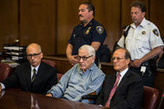 Anthony Marshall, (C), son of Brooke Astor, attends his sentencing at Manhattan Criminal Courts on June 21, 2013 in New York City. Marshall, 89, was found guilty of stealing millions from his mother's estate, and has been sentenced to serve one year of his three year term.