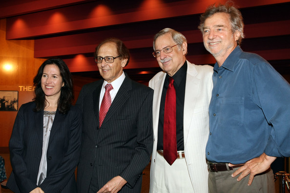 "Premiere Of The Restored 1948 Masterpiece ""The Red Shoes"" [the red shoes,event,suit,formal wear,dinner,margaret bodde,philip berk,curtis hanson,bob gitt,l-r,film restorer,ucla,premiere,premiere]"