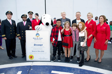 Phillip Martin 20th Century Fox and Delta Airlines Celebrate 'Snoopy' and Co. Receiving His Pilot's 'Wings'