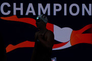 Katie Ledecky after victory in the Women 400 LC Meter Freestyle Final during day 4 of the Phillips 66 National Swimming Championships at the Woollett Aquatics Center on July 28, 2018 in Irvine, California.