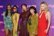"(L-R) Keke Palmer, Cardi B, Jennifer Lopez, Constance Wu, and Lili Reinhart attend STX Entertainment's ""Hustlers"" Photo Call at Four Seasons Los Angeles at Beverly Hills on August 25, 2019 in Los Angeles, California."