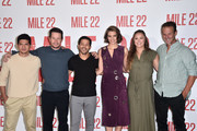 "Iko Uwais, Mark Wahlberg, Carlo Alban, Lauren Cohan, Rhonda Rousey and Peter Berg attend a photo call for STX Films' ""Mile 22"" at Four Seasons Hotel Los Angeles at Beverly Hills on July 28, 2018 in Los Angeles, California."
