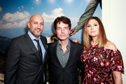 (L-R) Owner of De Re Gallery Steph Sebbag, singer Richard Marx, and TV personality Daisy Fuentes attend the Photo Femmes Exhibition Opening at De Re Gallery, featuring the work of Ashley Noelle, Bojana Novakovic and Monroe, at De Re Gallery on April 13, 2016 in West Hollywood, California.