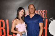 """Eiza Gonzalez and Vin Diesel attend a photocall for Sony Pictures' """"Bloodshot"""" at The London Hotel on March 06, 2020 in West Hollywood, California."""