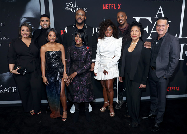 Netflix Premiere Tyler Perry's 'A Fall From Grace' [a fall from grace,event,premiere,fashion,little black dress,dress,fashion design,performance,fashion accessory,carpet,tyler perry,matthew law,michelle sneed,cicely tyson,mehcad brooks,crystal fox,bresha webb,phylicia rashad,netflix,tyler perry,crystal r. fox,phylicia rashad,bresha webb,cicely tyson,mehcad brooks,matthew law,a fall from grace,michelle sneed]