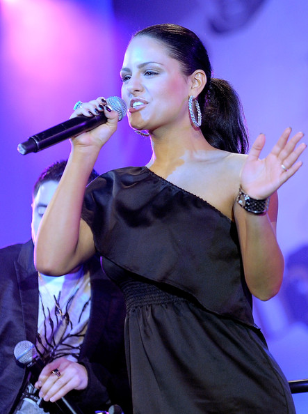 Pia Toscano Singer Pia Toscano performs onstage during Muhammad Ali's Celebrity Fight Night XVII at JW Marriot Desert Ridge Resort & Spa on March 19, 2011 in Phoenix, Arizona.