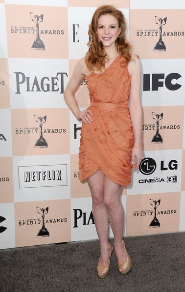 Actress Ashley Bell wearing Piaget arrives at the 2011 Film Independent Spirit Awards at Santa Monica Beach on February 26, 2011 in Santa Monica, California.