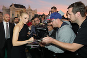 Natalie Dormer writes autographs as she attends the 'Picnic at Hanging Rock' premiere during the 14th Zurich Film Festival at Festival Centre on October 05, 2018 in Zurich, Switzerland.