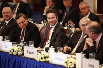 Pierre Moscovici G20 Finance Ministers and Central Bank Governors Meet in Shanghai