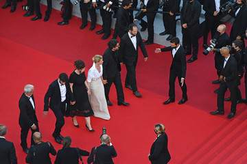 """Pierre-Simon Gutman Audrey Abiven """"OSS 117: From Africa With Love"""" Final Screeing & Closing Ceremony Red Carpet - The 74th Annual Cannes Film Festival"""