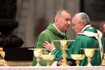 Pietro Parolin Pope Francis Attends A Mass With Newly Appointed Cardinals At St Peter's Basilica