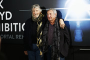Roger Waters and Nick Mason attend 'The Pink Floyd Exhibition: Their Mortal Remains' exhibition press conference at MACRO on January 16, 2018 in Rome, Italy.