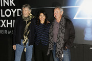 Roger Waters, Virginia Raggi and Nick Mason attend 'The Pink Floyd Exhibition: Their Mortal Remains' exhibition press conference at MACRO on January 16, 2018 in Rome, Italy.