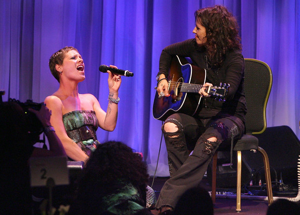 "Pink and Linda Perry - L.A. Gay & Lesbian Center's ""An Evening With Women"" - Inside"