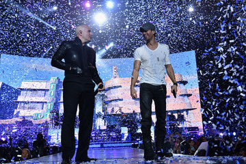 Pitbull Enrique Iglesias and Pitbull Perform at Opening Night of U.S. Tour