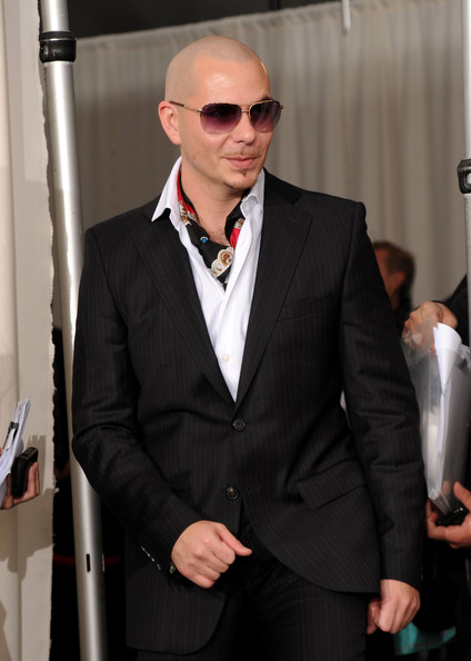 Pitbull Singer Pitbull poses in the press room during the 2010 American Music Awards held at Nokia Theatre L.A. Live on November 21, 2010 in Los Angeles, California.