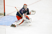 Sergei Bobrovsky #72 of the Columbus Blue Jackets warms up prior to the start of Game Four of the Eastern Conference First Round during the 2017 NHL Stanley Cup Playoffs against the Pittsburgh Penguins on April 18, 2017 at Nationwide Arena in Columbus, Ohio.