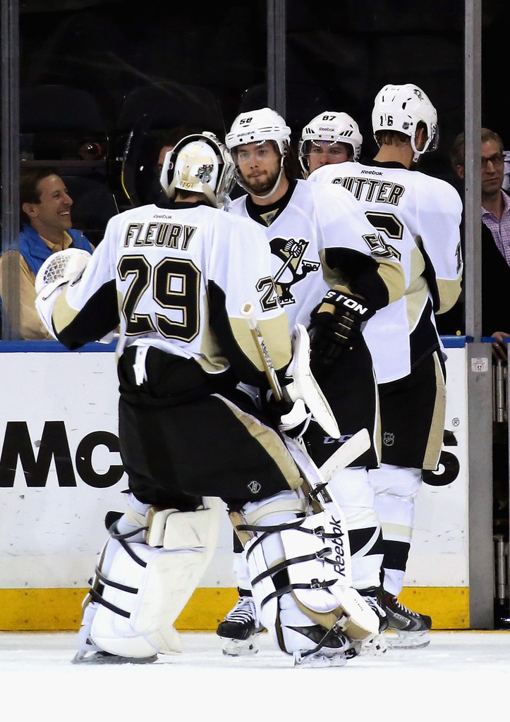 Kris Letang and Marc-Andre Fleury Photos Photos ...