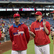 Cole Hamels and Ken Giles Photos