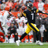 Ben Roethlisberger Photos - Ben Roethlisberger #7 of the Pittsburgh Steelers throws a pass in front of Larry Ogunjobi #65 of the Cleveland Browns during the second quarter at FirstEnergy Stadium on September 9, 2018 in Cleveland, Ohio. - Pittsburgh Steelers vs. Cleveland Browns