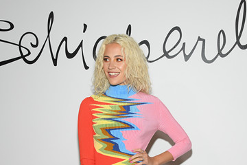 Pixie Lott Schiaparelli: Front Row - Paris Fashion Week - Haute Couture Spring/Summer 2020