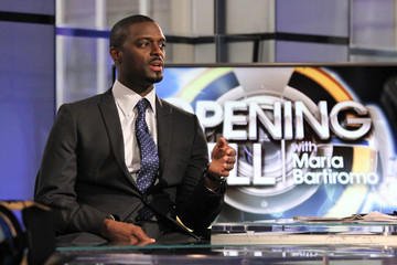 Plaxico Burress 'Opening Bell with Maria Bartiromo' Taping