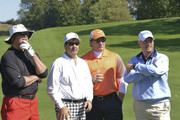 Jim McMahon, Jackie Flynn, Jeremy Roenick and Phil Orlando attend Players Against Concussions  at Pelham Country Club on October 6, 2014 in Pelham Manor, New York.