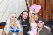 (L) to (R) Kathryn Smith, JC Chasez, Paris Hilton and Eric Podwall attend Podwall Entertainment's 9th Annual Halloween Party Presented By Makers Mark at The Peppermint Club on October 31, 2018 in Los Angeles, California.