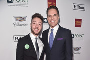 Michael Arellano poses with Jorge Valencia, Executive Director & CEO of Point Foundation, at Point Foundation?s Point Honors gala at The Beverly Hilton Hotel on October 13, 2018 in Beverly Hills, California.