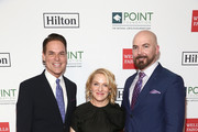 (L-R) Point Foundation Executive Director and CEO Jorge Valencia, Arianne Sutner and Chris Butler attend Point Honors Los Angeles 2019, Benefitting Point Foundation at The Beverly Hilton Hotel on October 12, 2019 in Beverly Hills, California.