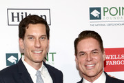 (L-R) Peter Nowalk and Point Foundation Executive Director and CEO Jorge Valencia attend Point Honors Los Angeles 2019, Benefitting Point Foundation at The Beverly Hilton Hotel on October 12, 2019 in Beverly Hills, California.