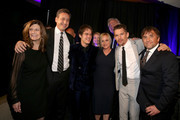 (EXCLUSIVE COVERAGE) (L-R) Producers Sandra Adair and John Sloss, actors Ellar Coltrane, Patricia Arquette and Ethan Hawke, producer John Sehring and director Richard Linklater, winners of Best Picture, pose during the 20th annual Critics' Choice Movie Awards at the Hollywood Palladium on January 15, 2015 in Los Angeles, California.