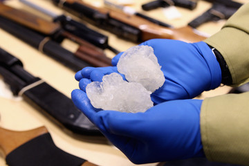 Paul Baker Police 'Operation Slab' Seize Methamphetamine And Weapons In Auckland