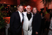 "(L-R) Ted Sarandos, Ryan Murphy and Cindy Holland attend ""The Politician"" New York Premiere after party at The Pool on September 26, 2019 in New York City."