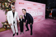 "Ryan Murphy, Logan Miller and David Miller attend ""The Politician"" New York Premiere at DGA Theater on September 26, 2019 in New York City."