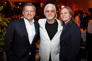 "(L-R)  Netflix Chief Content Officer Ted Sarandos, Ryan Murphy, and Netflix VP of Content Acquisition/Original Series Cindy Holland attend Netflix's ""The Politician"" Season One Premiere After Party at THE POOL on September 26, 2019 in New York City."